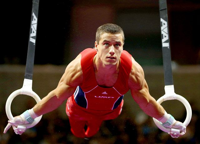Jake Dalton       Age: 20  Hometown: Reno, NV  Fun Fact: Based on his profile on TeamUSA.org, maintaining a rock-hard gymnast body is no easy feat for the 5-foot-5 athlete considering his favorite foods are pizza and ramen!