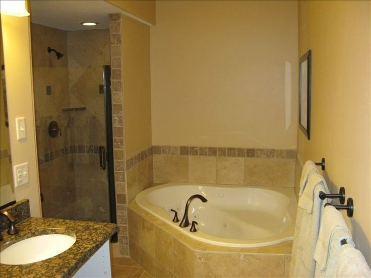 Image result for small bath with shower and seperate  big tub