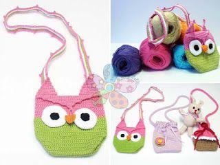 JuJu & LeLê: Crochê para crianças - Bolsas