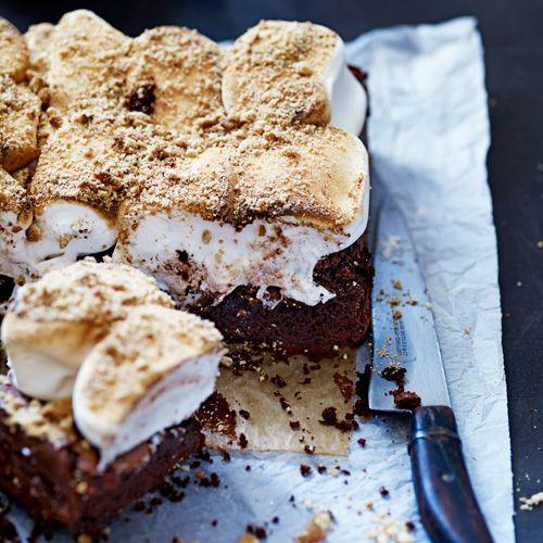 Brownies met marshmallows en koek van Jamie Oliver