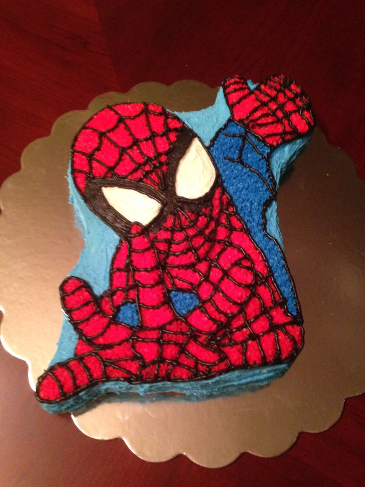 Spiderman Cake Buttercream Icing Sweet Delights
