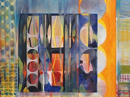 "'Intertwine' by mixed media artist Lynn Bishop of Uxbridge Ontario.  ""My body of…"