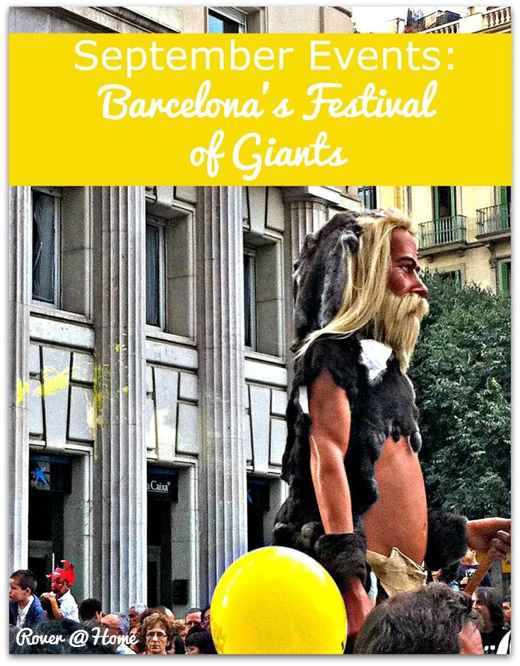 September Events: Barcelona's Festival of Giants
