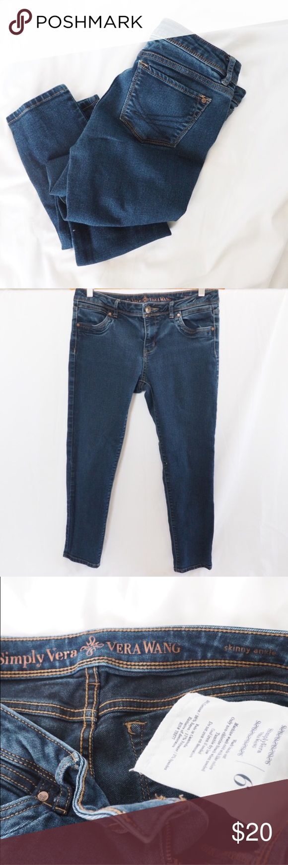Simply Vera Wang • Skinny ankle jeans Excellent condition Simply Vera Vera Wang Jeans Ankle & Cropped