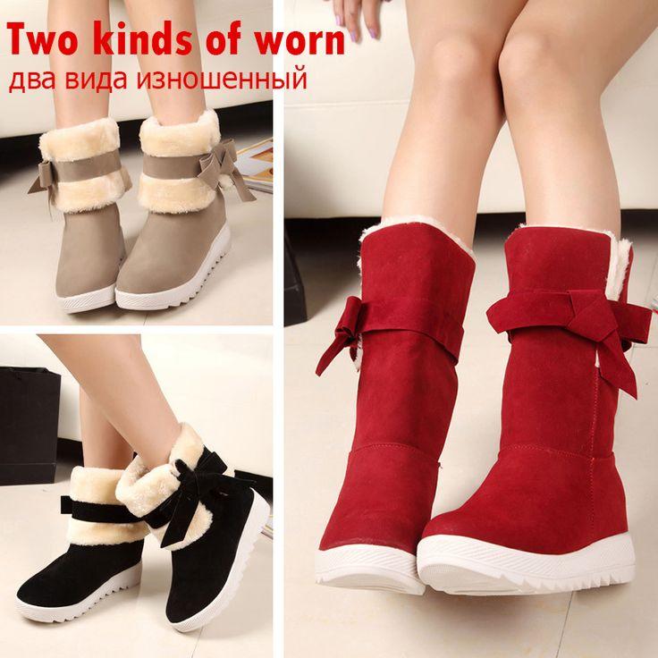 Красные Ботинки Женщин Обувь Женщина Снегоступы Женщин Зимняя Обувь Плюшевые Платформы Удобные Теплые Ботильоны Botas Mujer Черный #shoes, #jewelry, #women, #men, #hats, #watches