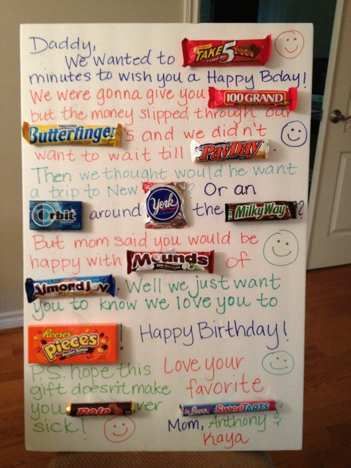 Candy Birthday Card for Daddy.