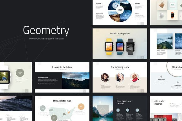 Geometry PowerPoint Template @graphicsmag