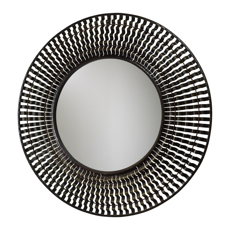 Cyan Design Jasper Mirror with Verde Accents in Rustic Iron