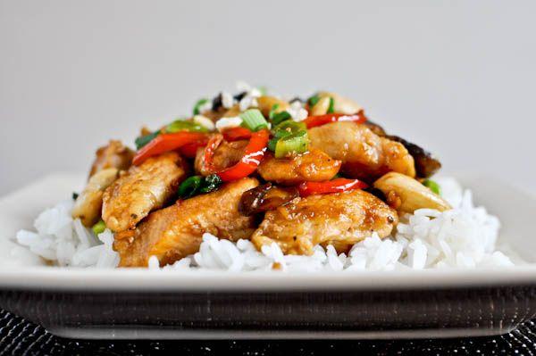 healthy cashew chicken: Cashew Chicken, Maine Dishes, Healthier Cashew, Easy Dinners, Chicken Food, Healthy Cashew, Dinners Ideas, Cashewckn 4, Healthy Recipes