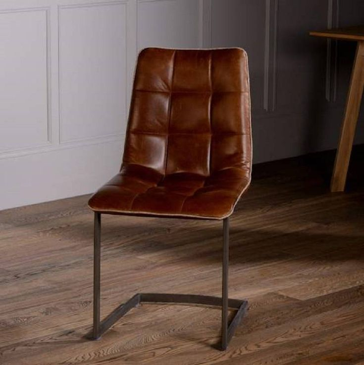 244 best smaller house images on pinterest wood burning for Leather dining chairs with metal legs