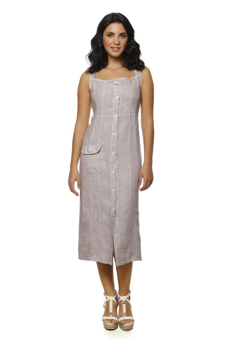 Linen Dress 1376 http://eshop.hariscotton.gr/