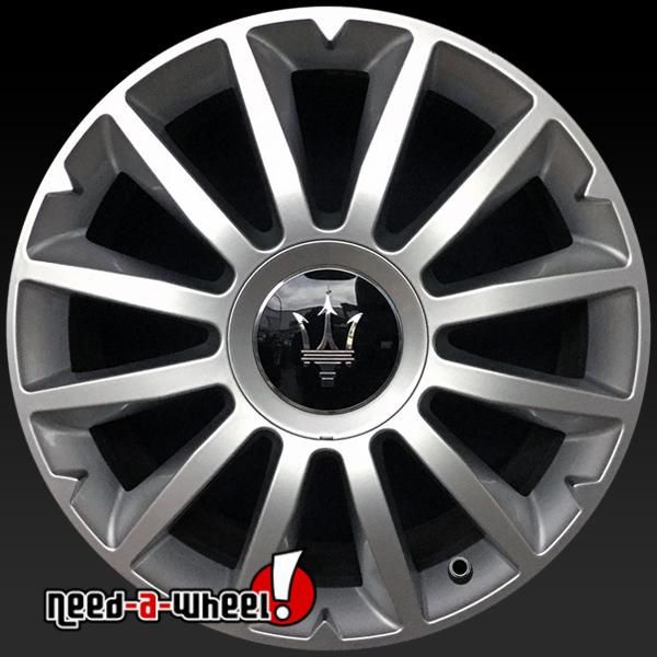 "2013-2015 Maserati Ghibli Alfieri oem wheels for sale. 18"" Silver stock rims 670010977 https://www.need-a-wheel.com/rim-shop/18-maserati-ghibli-alfieri-oem-wheels-rims-silver-670010977/, , #oemwheels, #factorywheels"