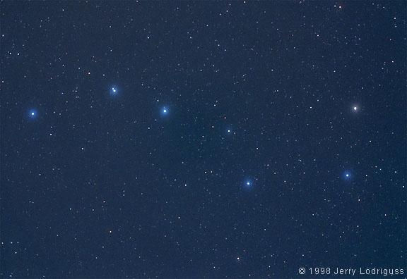 The Big Dipper, an asterism, in Ursa Major