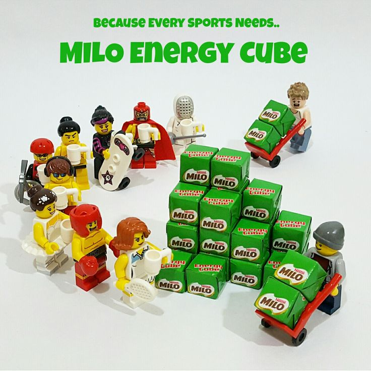 Because every sports needs MILO Energy Cube..