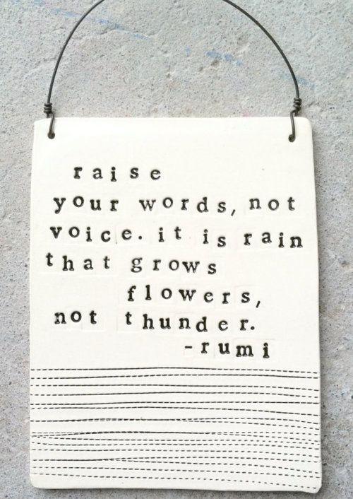 rain grows flowers, not thunder