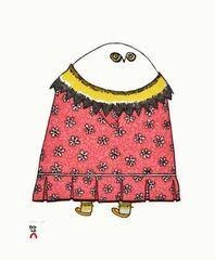 Okapi's Calico by Ningeokuluk Teevee.2016 Cape Dorset Inuit Print