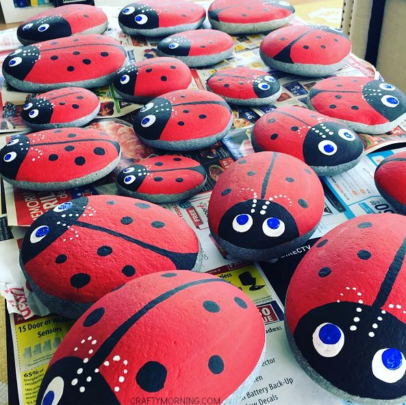 If you're looking to make your garden adorable, make some little rock ladybugs to stick all around the dirt! Too cute and easy for a summer craft! Supplies Needed: Paintbrushes Red, black, white, and blue acrylic paint Black sharpie (optional) Stones/Flat rocks Make sure the rocks are clean and smooth.Paint the stones with red and …