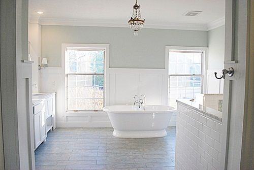 Once I knew the Behr Atmospheric was a no go for our master bedroom, I immediately began scouring the web Saturday morning. I was determined to find something right away, which is not always the best idea, so I could get started on it yet that day. Followingare some photos of bedrooms and/or paint colors …