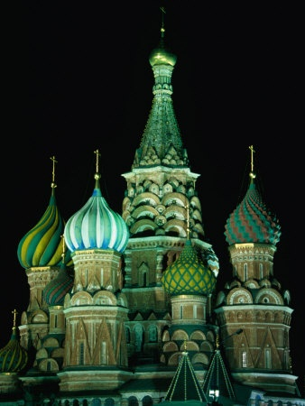 St Basil's Cathedral on Moscow's Red Square, Moscow, Russia via Art.com