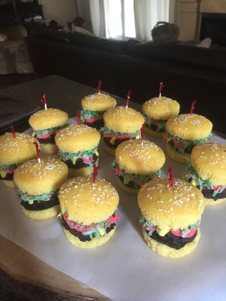 Cheeseburger cupcakes  {by Natalie Evenson}