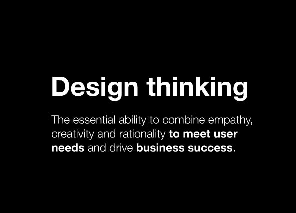 Nice definition: What is design thinking