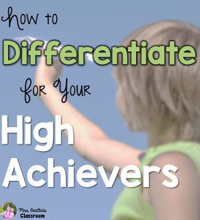 Ideas for easily differentiating instruction for stronger students. www.piecesoflearning.com | 1-800-729-5137