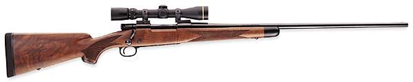 Winchester Model 70, 30.06. This is my baby. My Pop gave it to me about 6 years ago, it was his since the early 60s. I've changed out the stock to synthetic, put a nice, affordable Tasco, Euro-class scope on it and changed out the trigger assembly. I LOVE this rifle.