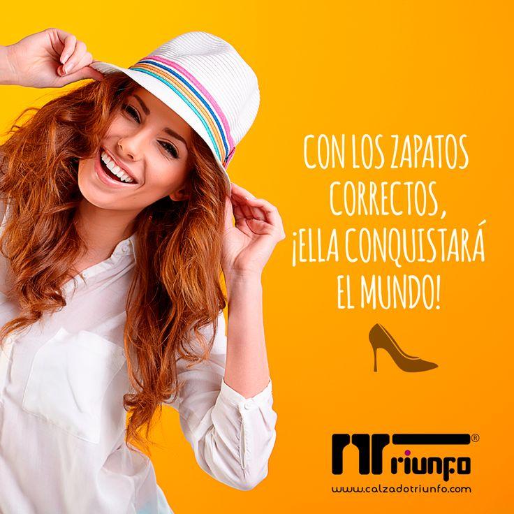 ¡A conquistar el mundo!  Compra online y recibe en tu casa --> http://www.calzadotriunfo.com/ #CoberturaNacional #EnviosinCosto #CalzadoTriunfo