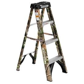 Werner Camo 4 Ft Fiberglass 250 Lb Type I Step Ladder