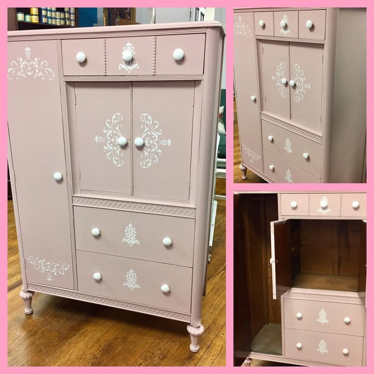 Nice Old Wardrobe Finished With Dixie Belle Tea Rose And Fluff.  #refurburator #dixiebellepaint