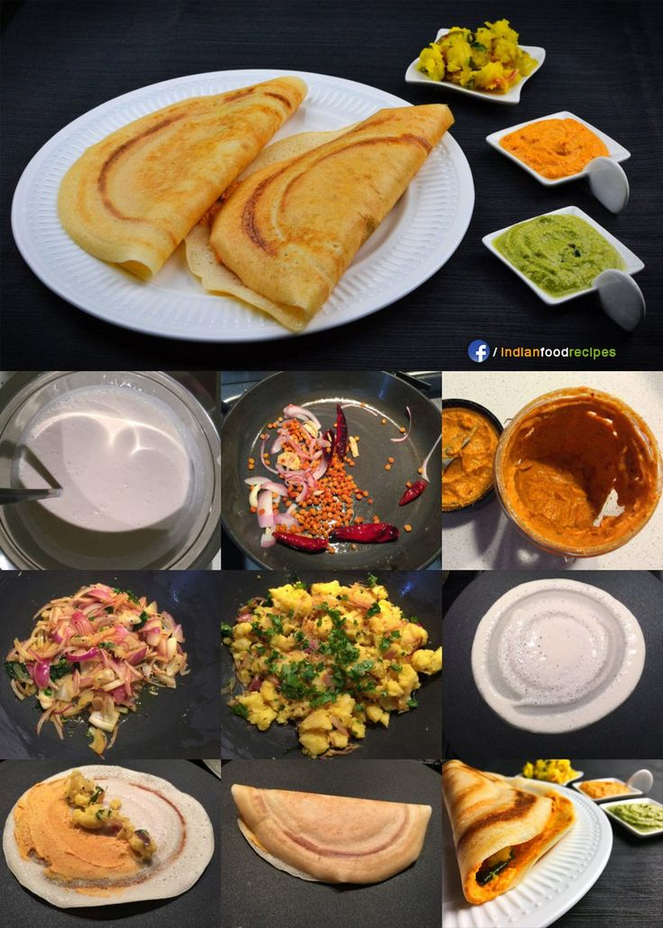 Mysore Masala Dosa recipe step by step.  Mysore masala dosa is the most popular dish which originated from the Mysore region and is quite different from the regular masala dosa. Mysore masala dosa is slightly thick, golden and crispy from outside, while spongy and soft from inside. A thick, red fiery chutney is smeared inside the dosa and is topped with a potato filling. A tiny dollop of butter is put on top of the potato filling before folding the dosa into half.