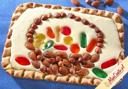Mazurek kajmakowy. Kliknij, aby poznać przepis. Przepisy wielkanocne, wielkanoc, ciasta na wielkanoc, babki wielkanoc, mazurek wielkanoc.