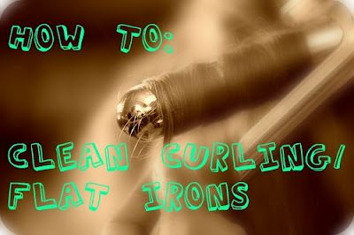 how to clean flat irons and curling irons...4 different methods