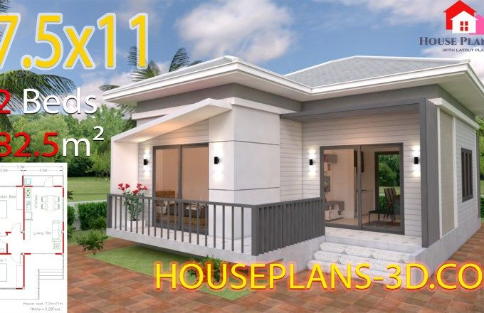 Home Design Plan 5x15m Duplex House With 3 Bedrooms Front Samphoas Plan Simple House Plans Small House Plans House Plans