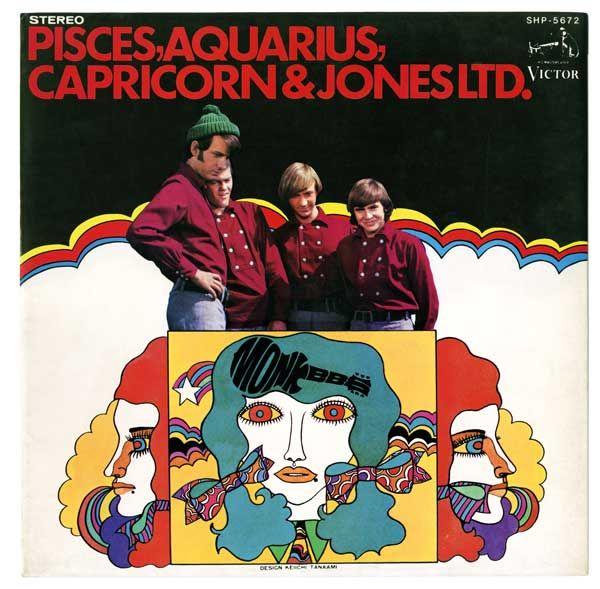 """The Monkees' """"Pisces, Aquarius, Capricorn & Jones LTD."""" album cover designed by Keiichi Tanaami"""
