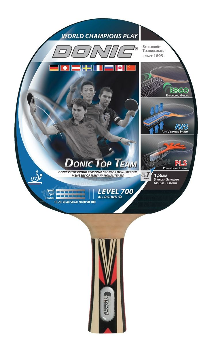 Donic Top Team 700 Masa Tenisi Raketi - Top Teams 700 Unisex Raket  Hız : 80  Spin : 80  Kontrol : 80  Kalınlık : 1,8 mm - Price : TLunknown price. Buy now at http://www.teleplus.com.tr/index.php/donic-top-team-700-masa-tenisi-raketi.html