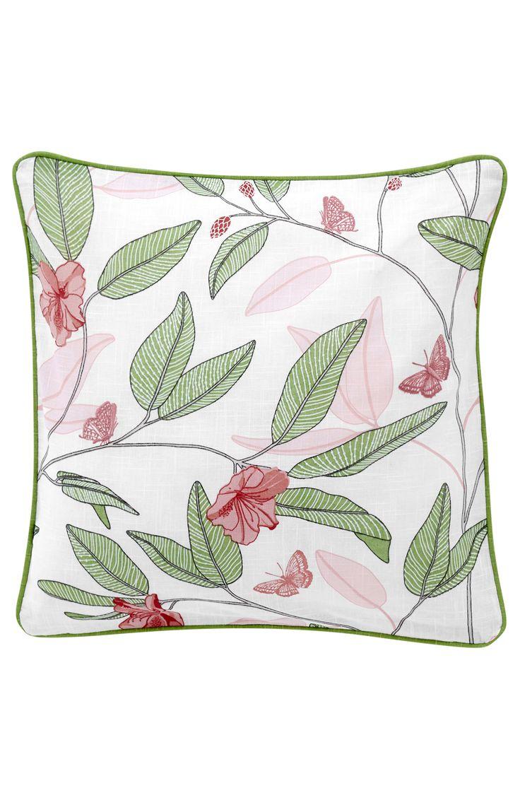 Wysokiej jakości tkanina z fakturą i wzorem w liście, kwiaty i motyle. Z jed... • Bezpieczna dostawa • Bezpieczne płatności • 30 dni na zwrot towaru