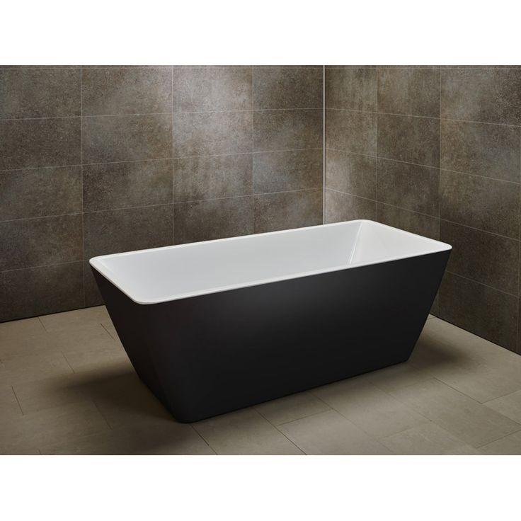 Fristående badkar Marstrand Svart/vit Marstrands raka design passar dig som gillar den lite stramare stilen. Detta fristående badkar lockar till långa bad