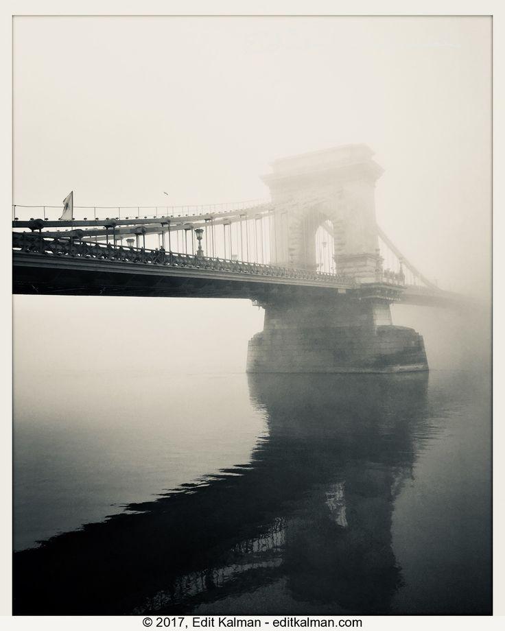 Bp in bw #Autumn, #Bridge, #Budapest, #Chainbridge, #Chilly, #Danube, #Fall, #Fog, #Hungary, #Morning, #River, #Riverbank, #Travel, #Water - https://goo.gl/G1BTuP