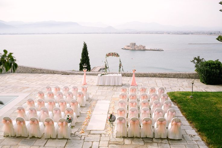 Magic view from an unforgettable wedding in Nafplio.