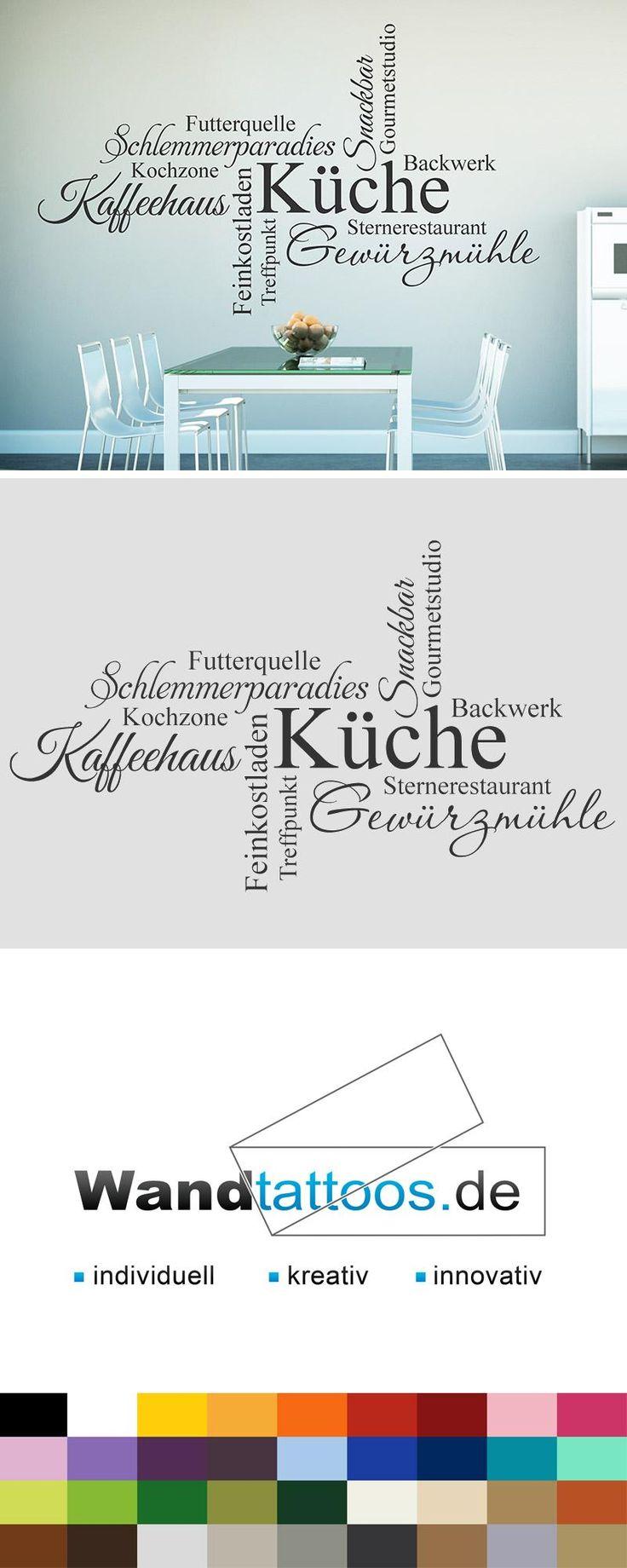 Wandtattoo Begriffe Für Die Küche Als Idee Zur Individuellen  Wandgestaltung. Einfach Lieblingsfarbe Und Größe Auswählen