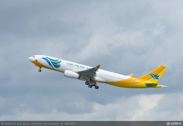 Cebu Pacific took delivery of the first of three Airbus A330 aircraft