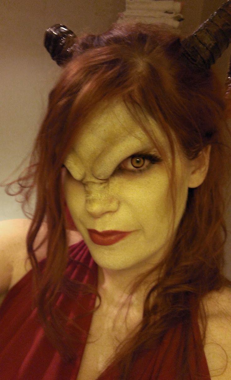 Demon horn makeup