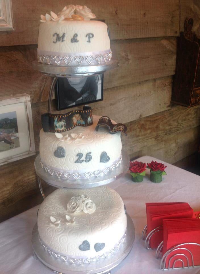 Bruidstaart 25 jaar getrouwd