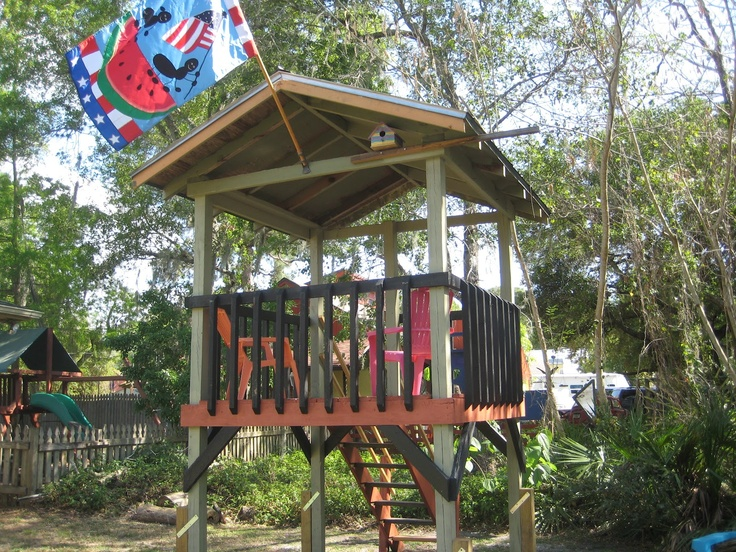 Outdoor Treehouse Part - 25: Backyard Forts And Treehouses For Kids