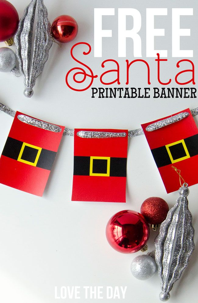 Happy Thursday! I hope you checked out yesterday's DIY Peppermint Tutorial & download. I think it's my most favorite craft of the season. If you have time, make sure to check it out. As for today's post, I'm offering this fun Printable Santa Garland as a FREE Christmas DOWNLOAD.