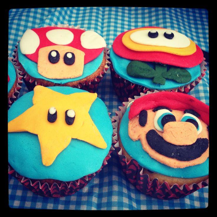 Cupcakes con fondant de Mario Bros