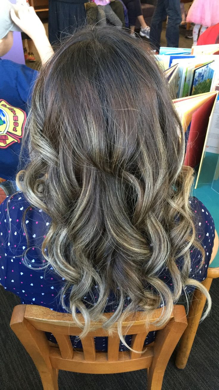 Balayage medium brown hair with highlights, shadow root, toner smoosh technique, ash blonde, ash brown, Hair done in Redlands, CA by Chantal on 9/2/17, pic taken on 2/4/18. Olaplex 3 treatments often with deep conditioning and purple shampoo