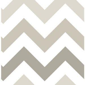 Nu Peel & Stick Wallpaper Zig Zag Taupe
