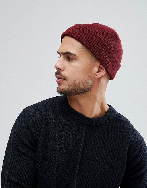 a30ba5e6 DESIGN fisherman beanie in burgundy in 2019 | b | Latest fashion ...